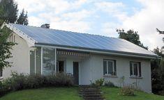 Installation solaire couvrant intégralement la toiture