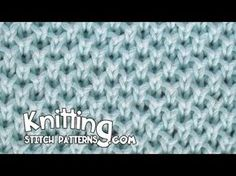 Pearl Brioche stitch creates a fabric with an interesting honeycomb structure. It's easy enough, involves slipped stitches and yarn overs. Knitting Stiches, Crochet Stitches Patterns, Arm Knitting, Knitting Charts, Baby Knitting Patterns, Stitch Patterns, Honeycomb Stitch, Crochet Pouch, Moss Stitch