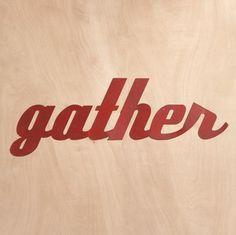 """GATHER"" SIGN - Wall Decor - Decor - Furniture & Decor | Robert Redford's Sundance Catalog"