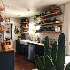 If we want to describe boho style kitchen idea in simple words, then it will be like juicy, trendy, colorful and have an amazing artistic texture. Different prettifying elements are included to make your kitchen a bold style statement. The awe-inspiring layering of the utensils is also showing an impact of bohemian style ideas.