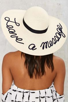 Eugenia Kim Leave a Message Sun Hat - Hair + Hats