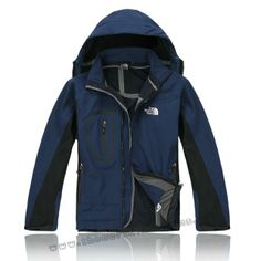 Warm Men The North Face Sale WaterProof Jacket Deep Blue Outlet TNF6211 Outlet