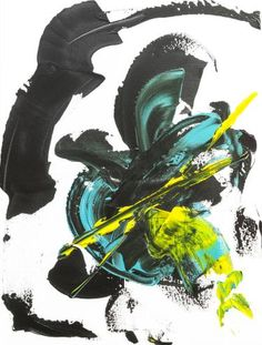 Original Abstract Painting by Alexis Reynaud Abstract Expressionism, Abstract Art, Original Art, Original Paintings, Musashi, Buy Art, Samurai, Soldier Blue, Blue Sword