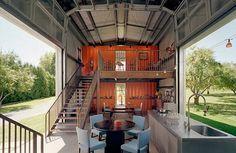 maison conteneur 19 640x416 Habitations en utilisant des containers