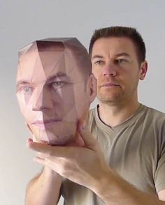 "Paper-Kit website offers you to print a DIY 3D papercraft representing your own head! To do this, you simply need to use their ""head modeler"" with a face pho"