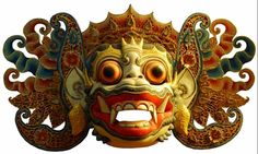 Name / Code: barong kdungkling1 mask  Material        : wood and cow skin  Price             : --