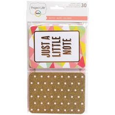 Project Life Specialty Themed Cards 30/Pkg - Noted