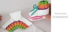 Knit Rainbow Baby Boots Easy Knitting, Knitting Patterns, Crochet Baby, Knit Crochet, Good Luck To You, Learn How To Knit, Baby Boots, Rainbow Baby, Little People