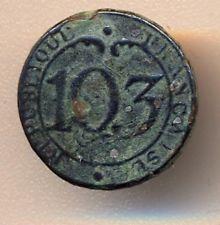 Cincin19,Rare Boutton Infanterie de Ligne Nº103 Republique Francaise Napoleonic Wars, Personalized Items, Buttons
