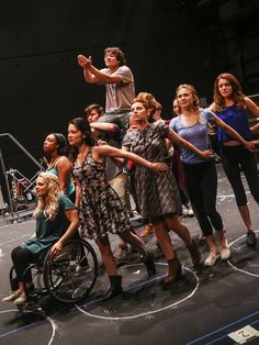 The cast of SPRING AWAKENING rehearses ahead of their first preview! #pinoftheday
