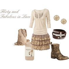 """""""Flirty and Fabulous in Lace"""" by westernglamour on Polyvore"""