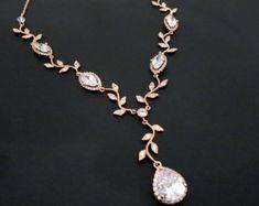 Collana nuziale d'oro collana di cristallo di di treasures570