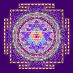 Sri Yantra Purple