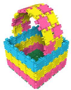 Maak een fonkelende fruitmand met Clics Glitter! Kindergarten, Wolf, Lego Duplo, Preschool, Birthday Cake, Fruit, Fonts, Glitter, Spring