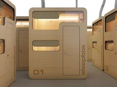 sleepbox.....claustrophobic? I would be.