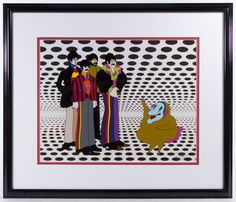 "Lot 452: Beatles Yellow Submarine ""Sea of Holes"" Serigraphed Cel; Stamped seal of authenticity lower right; attached COA from American Royal Arts Corp."