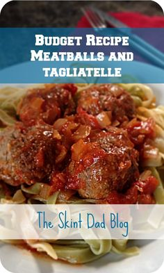 Meatballs and tagliatelle is, without a doubt, one of my most favourite meals in the world ever!!  This is another very easy recipe for a mid week dinner. It's really filling, the kids can help make the meatballs and you can have dinner on the table in around 30 minutes.