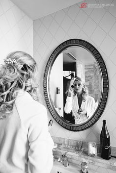 Bride getting ready in her guest room at the Hotel du Pont in Wilmington, DE     Photo credit: www.jennchildress.com  www.Hoteldupont.com/weddings Bride Getting Ready, At The Hotel, Photo Credit, Guest Room, Club, Weddings, Photography, Photograph, Wedding