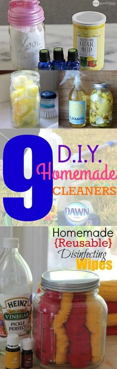 Spring will be here before you know it! Use these 9 non-toxic Homemade Cleaners to clean your home this spring!