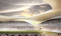 Among the eleven finalists that were announced in the international design competition the 2020 Olympic Stadium proposal of SANAA and Nikken Sekkei for the New National Stadium Japan was really appreciated among Japanese. 2020 Olympics, Tokyo Olympics, Green Architecture, Architecture Design, Ryue Nishizawa, National Stadium, Toyo Ito, Sports Complex, Zaha Hadid Architects