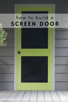 How to build a screen door for your home. Step by step tutorial to build a custom DIY screen door. Building a screen door is a great DIY project that will add beautiful character to your home. Learn how to build a screen door with this tutorial. Custom Screen Doors, Wooden Screen Door, Diy Screen Door, Garden Shed Diy, Diy Shed, Dream Garden, Home Improvement Projects, Home Projects, Backyard Projects
