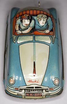 Huki tin toy car.