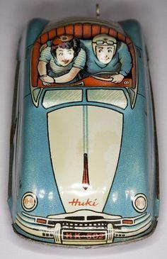 Huki tin toy car.
