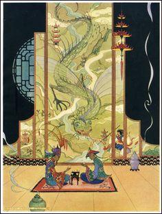 Arabian Nights ~ Penn Publishing ~ 1928.  Ills. by Virginia Sterrett