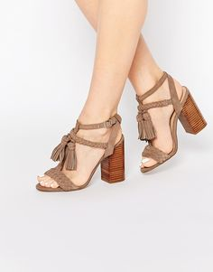 b229d23a860 New Look Suede Heeled Sandals    Strappy Block Heel Sandals