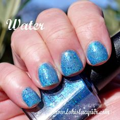 Mckfresh Nail Attire Planeteers Collection swatches. water