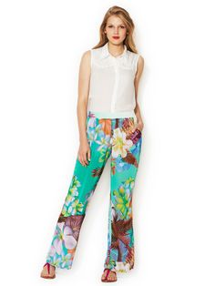 High Rise Printed Wide Leg Pant by Isabel Lu at Gilt