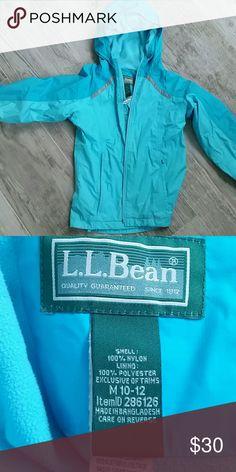 L.L. Bean fall/spring jacket Robins egg blue fleece lined water-resistant jacket.  Unisex.  Size 10-12. Like new. L.L. Bean Jackets & Coats