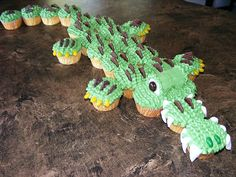Alligator cupcakes by christylacy, via Flickr