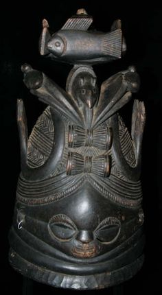 Mende, Bundu, sande, Sowei helmet mask ( Sierra Leone ) Early 20th century