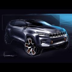 Seven seat #Jeep Yuntu concept previewed in design sketches ahead of Shanghai debut