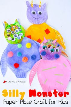 Use paper plates to make these silly monsters.