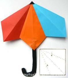 Paraplu knutselen van vouwblaadjes (DUTCH)