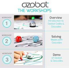 Get familiar with Ozobot quickly. The workshops get students familiar with Ozobot and OzoCodes. Choose from 3 workshops of different duration to fit your schedule.
