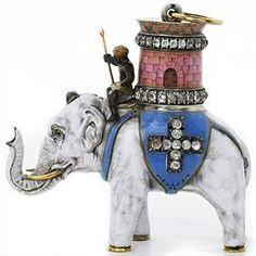 Ordre de l'Éléphant, règne de Frédéric VI, roi du Danemark de 1808 à 1839. -- Réputé chaste et pur, l'éléphant blanc a été considéré dès le Moyen Âge comme un symbole marial. C'est ainsi qu'il fut choisi comme emblème pour le plus prestigieux des ordres de chevalerie du Danemark, fondé au XVe siècle et encore attribué de nos jours.