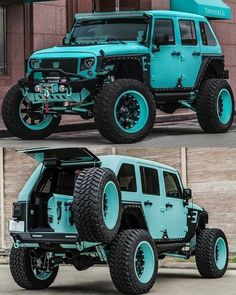 A collection of customized jeeps that I find cool and interesting. Blue Jeep Wrangler, Jeep Rubicon, Jeep Wrangler Unlimited, Jeep Wranglers, Jeep Jk, Jeep Truck, Badass Jeep, Jeep Camping, Custom Jeep