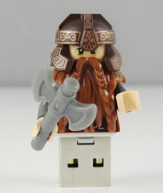 Gimli Pendrive 8GB USB w BRICK CRAFT #lego las  #pendrive #flash #minifigures #gimli #http://pl.dawanda.com/shop/brickcraft