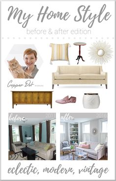 Eclectic modern vintage home styling!