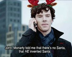 Merry Christmas, Sherlock style (that sounds like something Moriarty would do - what a Grinch)