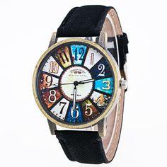 Harajuku Graffiti Pattern Leather Band Analog Quartz Vogue Wrist Watches.  KarkötőkKarkötő ÓraAnalógiaFérfi ... bfea7a1904