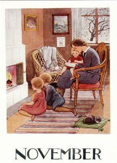 calendar art - November - Elsa Beskow