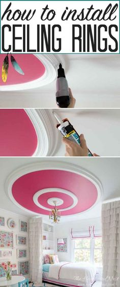 Upcycle an old frame as a ceiling medallion... Rustic Bedroom ...