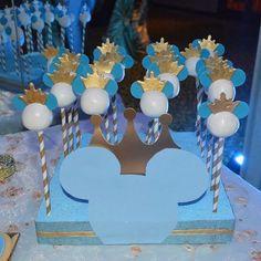 Prince Mickey cake pops #cakepops #princemickey #prince #crown #hialeah #mayracakess