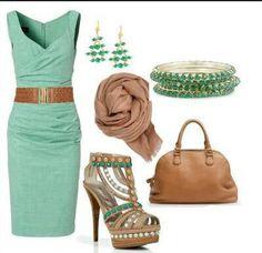 Verde turquesa y cafe
