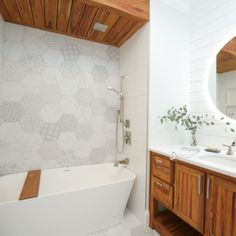 Create your own statement bathroom with our help! Visit Home Art Tile website and see what we have to offer! Bathroom Vanities, Tile Bathrooms, Wood Bathroom, Bathroom Cabinets, Bathroom Goals, Room Tiles, Closet Designs, Bathroom Inspiration, Home Art