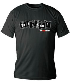 Camiseta tabla periódica Bazinga. The Big Bang Theory Estupenda camiseta  ideal para lucirla cuando tú 9c6299ffada